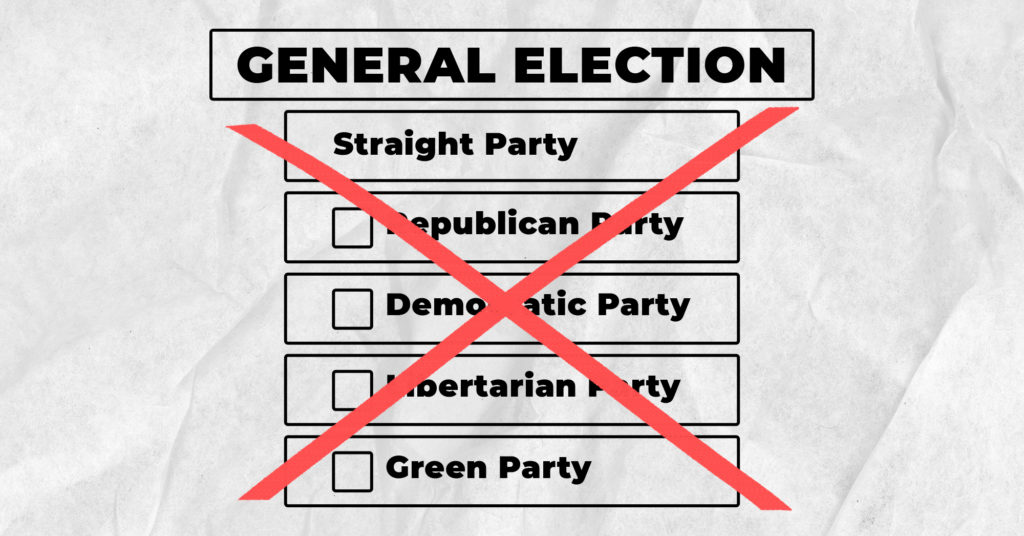 Lack of Straight Party Voting